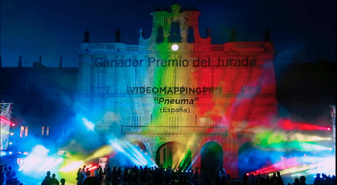 Pneuma 1re premio como Video Mapping más viral del Festival Luz y Vanguardias 2018